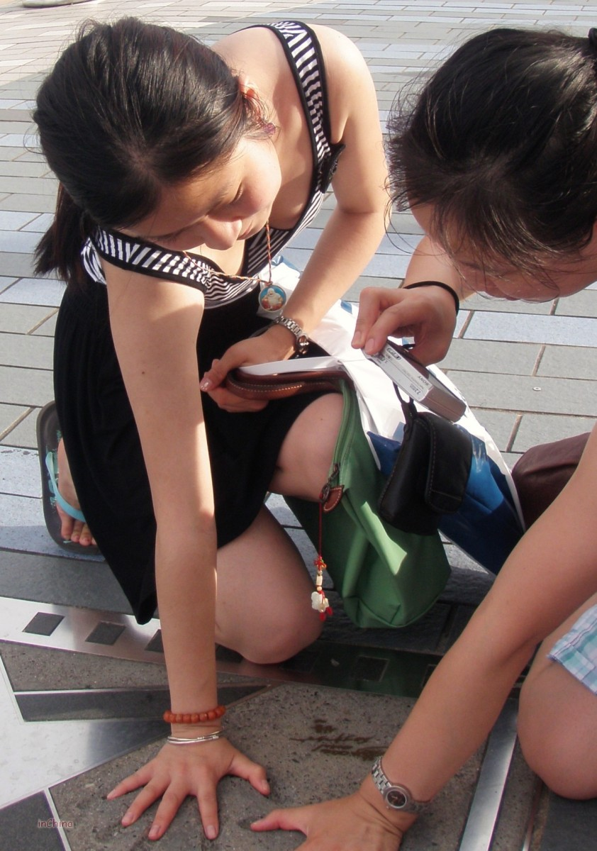 Caught in Hong Kong: Chinese Teen Tourists Showing Off Their Black and Nude Bras